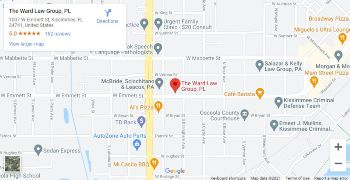 Google Map for The Ward Law Group in Kissimmee, Florida
